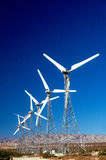WIND POWER GENERATORS. In California Desert Royalty Free Stock Photography
