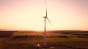 Wind power generators stock video