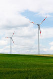 Wind power generators Royalty Free Stock Images