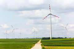 Wind power generators Royalty Free Stock Photography