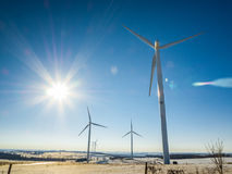 Wind Power Generators. Turbines Electric Stock Photos