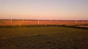 Wind power generators stock footage
