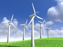 Wind power generators Royalty Free Stock Photo