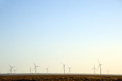 Wind Power in the gobi Royalty Free Stock Photos