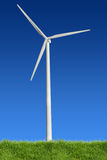 Wind Power and Grass Stock Photo