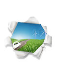 Wind power illustration Stock Photos