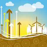 Wind Power Indicates Renewable Resource And Electricity Royalty Free Stock Photos