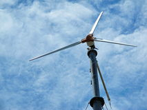 Wind power on Island High landmark Royalty Free Stock Images