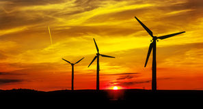 Wind power landscape Royalty Free Stock Photos