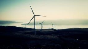 Wind power mills stock video