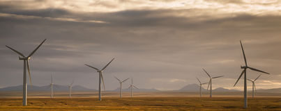 Wind power. One of Scotland`s many wind farms royalty free stock photos