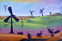 Wind Power painting Royalty Free Stock Images