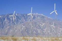 Wind power at Palm Springs, CA stock photos
