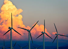 Wind Power, Palm Springs, California Stock Photos