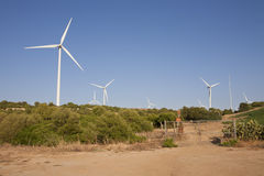 Wind power park Royalty Free Stock Photography
