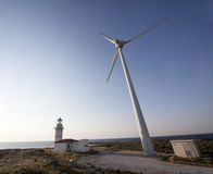 Wind power. This photography is captured in bozcaada island in turkey Royalty Free Stock Image