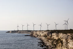 Wind power. This photography is captured in bozcaada island in turkey Stock Image