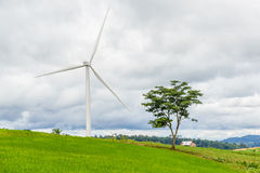 Wind power plan Royalty Free Stock Photo