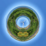 Wind power planet Royalty Free Stock Images