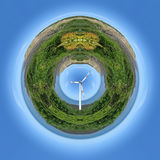 Wind power planet Stock Photos
