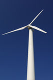Wind power plant. In front of a blue sky Royalty Free Stock Photo