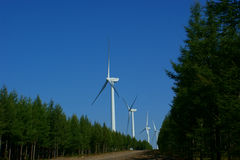 Wind power plant Stock Images