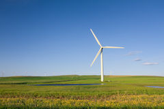 Wind Power Plant. In Alberta, Canada Royalty Free Stock Images