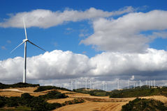 Wind power plant. In northern Spain Stock Photos