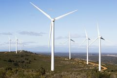 Wind power plant Stock Image