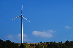 Wind power plant. In beautiful landscape in Germany stock photos