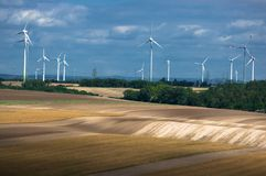 Wind power plant. stock images
