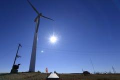 Wind power plant in Grassland in inner mongolia. Wind power station in inner mongolia stock images