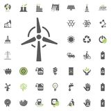 Wind power plant icon. Eco and Alternative Energy vector icon set. Energy source electricity power resource set vector. Wind power plant icon. Eco and Stock Images