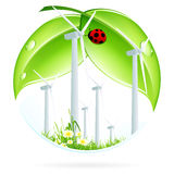 Wind Power Plant Icon Stock Photos