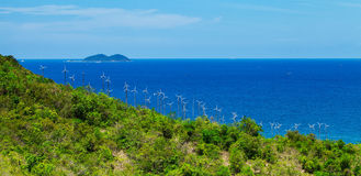 Wind power plant Koh larn Stock Photography