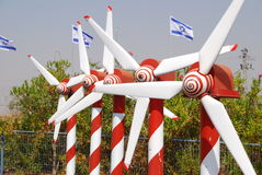 Wind power plant model. A miniature wind power plant model, Picture taken at Mini-Israel at 3rd Of October Stock Images