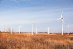 Wind power plant Stock Photos