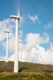 Wind power plant in northern Spain Royalty Free Stock Photos