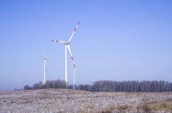 Wind power plant Royalty Free Stock Image
