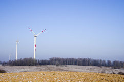 Wind power plant Royalty Free Stock Photos