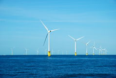 Wind power plants royalty free stock images