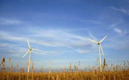 Wind power plants Stock Photos