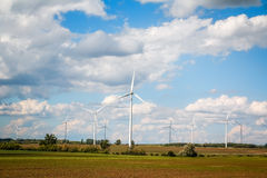 Wind power plants Royalty Free Stock Photo