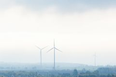 Wind power plants Stock Photography
