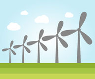 Wind power plants Stock Images