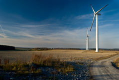 Wind power plants scene Royalty Free Stock Photography