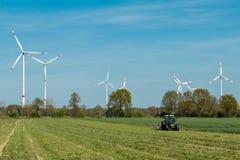 Wind power plants Royalty Free Stock Photos