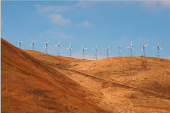 Wind power plants in the usa Stock Photography