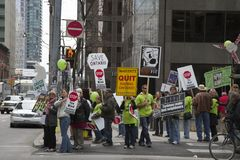 Wind Power Protest in Toronto Royalty Free Stock Images