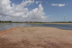 Wind power in Rio Grande do Norte, Brazil. The wind turbines park in Rio Grande do Norte, Brazil Royalty Free Stock Photography